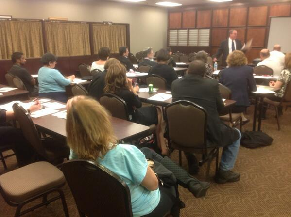 A packed crowd heard about the basics of insurance for small business